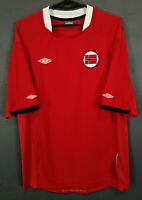MEN'S NORWAY NATIONAL 2010/2011 UMBRO HOME SOCCER FOOTBALL SHIRT JERSEY SIZE L