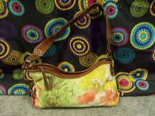 Fossil Multi-Color Floral Design Fabric Should Bag