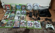 Xbox 360 S Console With Games,kinect ,wires,minecraft,gta,overlaord,18 games