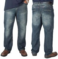 Mens Kam Big King Size Jeans Heavy Duty Blue Regular Fit Pants Sizes 40 to 60