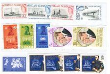 Falkland Isl. Qeii. Sc#143-6,150-3,225-6,429- 32. Mint Lh/Hinged. Scv$35.