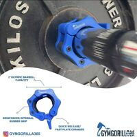 """2"""" Olympic Barbell Collars GYMGORILLA365 for HOME/GYM use Inc FREE branded Bag"""