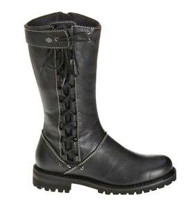 HARLEY-DAVIDSON FOOTWEAR Women's MELIA Black Leather Motorcycle Boots D85054