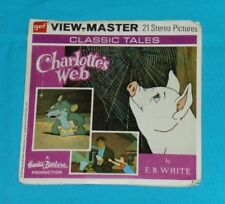vintage CHARLOTTE'S WEB VIEW-MASTER REELS packet with booklet