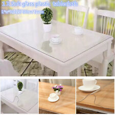 Table Cover Soft Glass Plastic Tablecloth Waterproof PVC Clear Protector 120x80