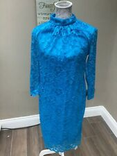 NEW WITH TAGS BLUE DRESS FULLY LINED SIZE 16