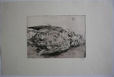 Horst Janssen (1929-1995) Toter Vogel Orig. Radierung 1975 signiert
