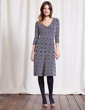 BODEN BNIB Annabel Dress - Navy/Ivory - UK 12 L