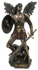 St. Michael Archangel Standing On Demon Statue Sculpture Figure