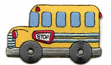 SCHOOL BUS - VEHICLE - CHILDREN - SCHOOL - Iron On Embroidered Applique Patch