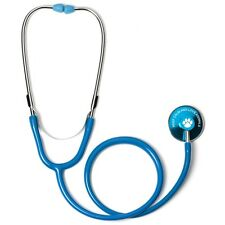 Blue Single Head Stethoscope with Keep Calm and Love Animals Paw Print