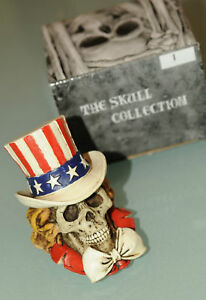 PRL) SKULL HAND PAINTED UNCLE SAM TESCHIO DIPINTO A MANO ZIO USA U.S.A. US STAR