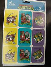 TMNT Teenage Mutant Ninja Turtles Power 1989 Vintage Old School 36 Stickers NEW