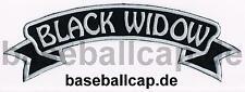 Rückenpatch Rückenaufnäher Nr.58 Black Widow Biker Colour Aufnäher Embleme