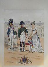 GRAVURE DE LEROUX NAPOLEON  A SAINT CLOUD 1813