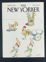 COVER ONLY ~ The New Yorker Magazine, April 20, 1981 ~ Saul Steinberg