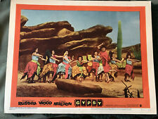 """Gypsy 1962 Warner Brothers 11x14"""" musical lobby card Rosalind Russell"""