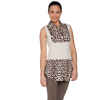 Kathleen Kirkwood Dictrac Ease Rayon Spandex Collar Camisole Size 1X Animal