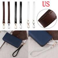 Genuine Leather Bag Buckle Wrist Hand Strap Wristlet Wallet Handbag Purse Belt