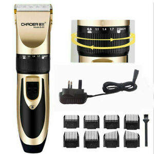 Rechargeable Hair Clippers Trimmer Cutter Cutting Mashine Electric Shavers UK