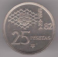España 25 pesetas 1980 (80) moneda de cobre-níquel-España 82 Copa Mundial de fútbol