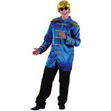 Blue Men's Sargent Pepper Jacket - Fancy Dress Sgt Costume 60s Mens Beatles