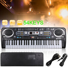 More details for musical keyboard piano 54 keys electronic electric digital beginner adult gift