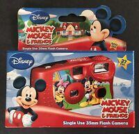 SEALED DISNEY MICKEY MOUSE & FRIENDS CAMERA Single Use 35mm flash MINNIE PLUTO