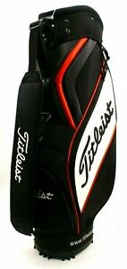 """Titleist Midsize Cart Bag 10"""" Mouth 6-Way Top 3 Full Length Dividers 2 Pockets"""