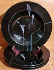 "Mikasa Galleria OPUS BLACK Rim Soup bowl set of 4, 9 3/8"", FK701, Calla Lily"