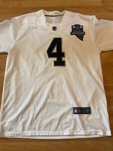 Oakland Las Vegas LA Raiders White NFL Shirt Jersey #4 Carr Size XXL