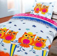 BettwÄsche Baumwolle Wintereule Bunt Rv Neu ln 12 SchöN In Farbe Beliebte Marke 2 Tlg