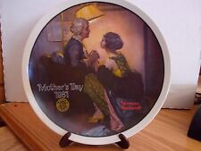 Norman Rockwell collector plate - After The Party - Mothers Day 1981