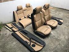 Inkl UMBAU BMW E93 M3 LCI Cabrio Lederausstattung Sitze Innenausstattung Bambus