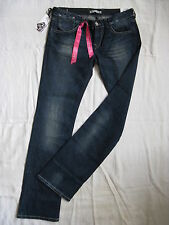 FORNARINA DONNA BLUE JEANS STRETCH w27/l34 SLIM FIT EXTRA LOW WAIST Bootcut LEG