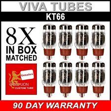 New Current Matched Octet (8) Reissue Genalex Gold Lion KT66 6L6 Vacuum Tubes