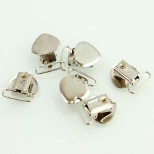 C339 10 Pcs Metal Clips Insert Baby Pacifier Dummy Holders Pacifier Suspender Ho