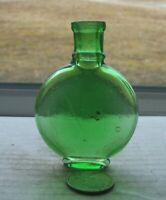 VICTORIAN FANCY GREEN PERFUME BOTTLE -1880 PERIOD