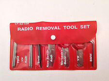 10pc Radio Removal Tool Set For Ford, VW, Audi, BMW, New Beetle, Mercedes Benz
