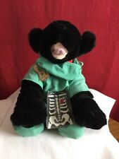 Build A Bear Black Labrador Dog 18 Inch With Red Collar Doctor Costume/Scrubs -
