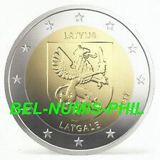 LETLAND II 2017 - 2 euromunt - wapenschild/armoirie regio Latgale - UNC