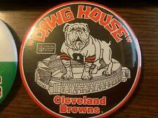 VINTAGE CLEVELAND BROWNS DAWG POUND BUTTON PINS MUNICIPAL STADIUM LOT 4