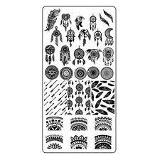 Traumfänger Stamping Schablone Platte Nail Art Stempelschablone Dreamcatch #2