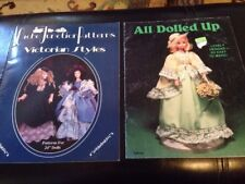 Doll Pattern Book Lot x2 Victorian Styles Cache Junction & All Dolled Up Vintage