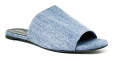 New Robert Clergerie Womens Blue Slides Size 8