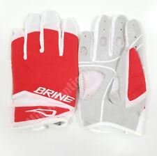 Brine Silhouette Women's LAX Lacrosse Gloves Mesh Venting Foam Red Large WGLS1