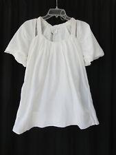 Tony Cohen silk blend size 4- S blouse top white NWT