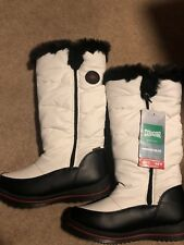 Cougar Bistro Women's Tall Waterproof Nylon Winter Snow Boots Size 9M White NEW