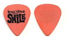 Brian Wilson Presents Smile Orange Guitar Pick - 2004 Solo Tour Beach Boys