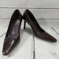 Lauren Ralph Lauren Shoes Size 7 B High Heels Pumps La Titia Alligator Print